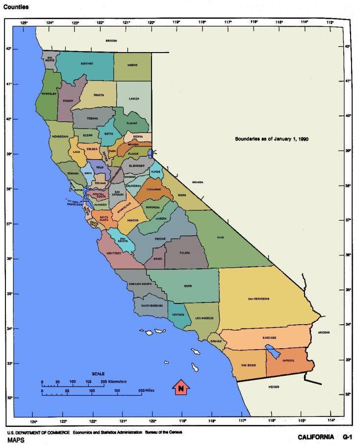 Map Of California Cities And Towns