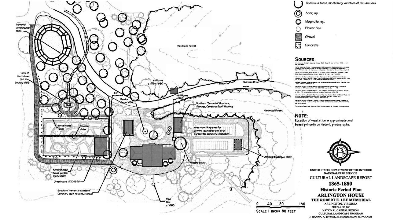 File:cultural History Map Of The Grounds Of Arlington House - Arlington Cemetery Printable Map