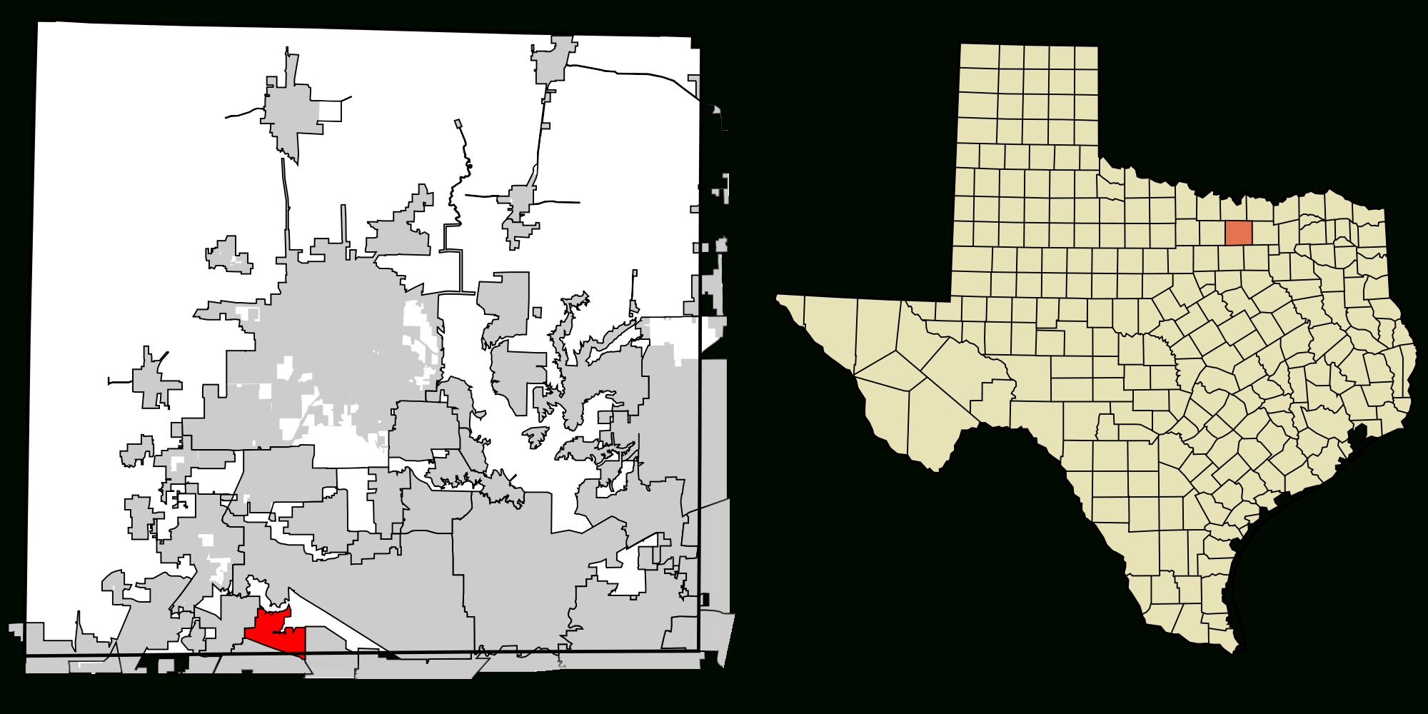 File:denton County Texas Incorporated Areas Trophy Club Highlighted - Trophy Club Texas Map