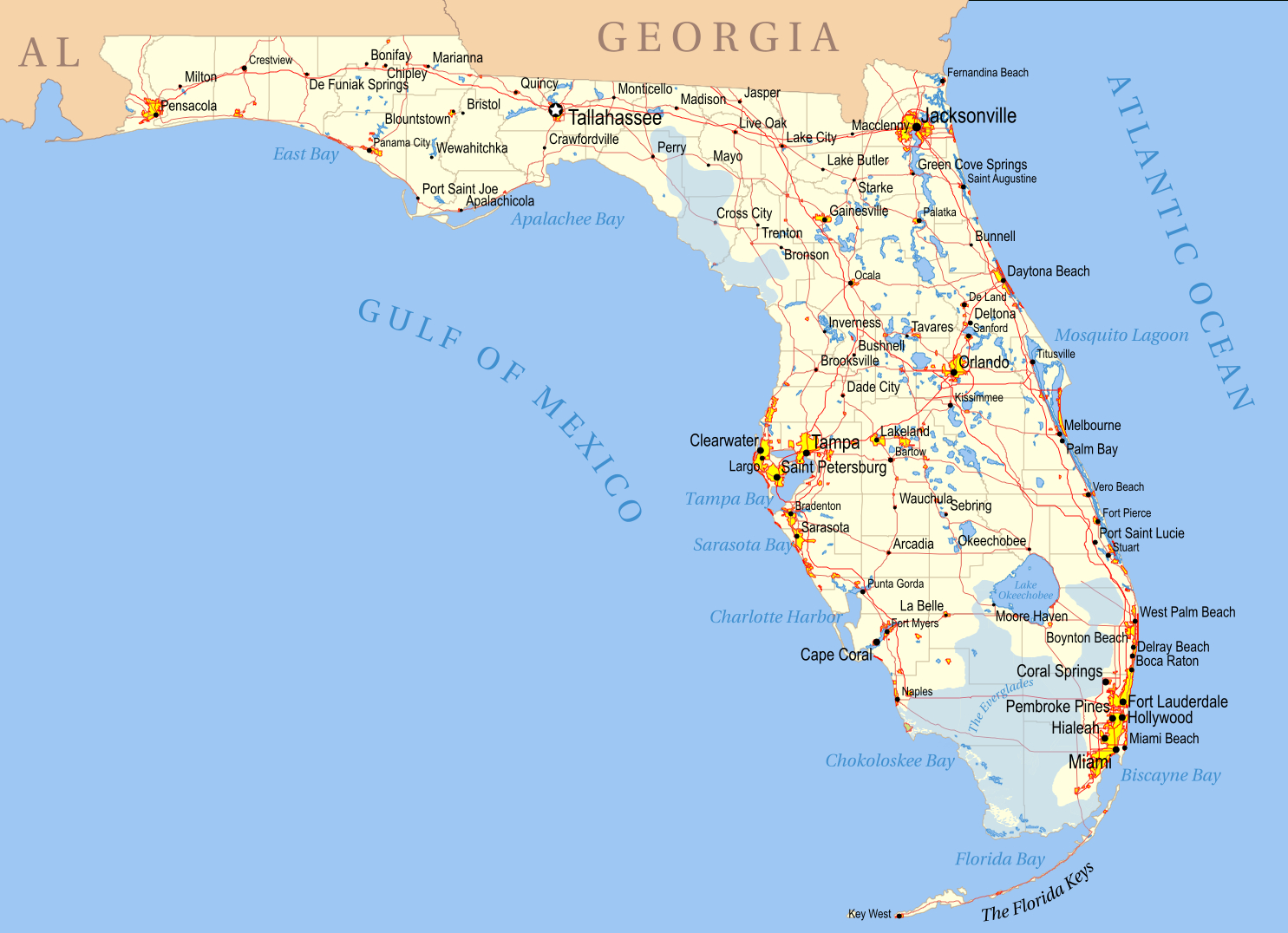 File:florida Political Map Kwh - Wikipedia - Coral Bay Florida Map