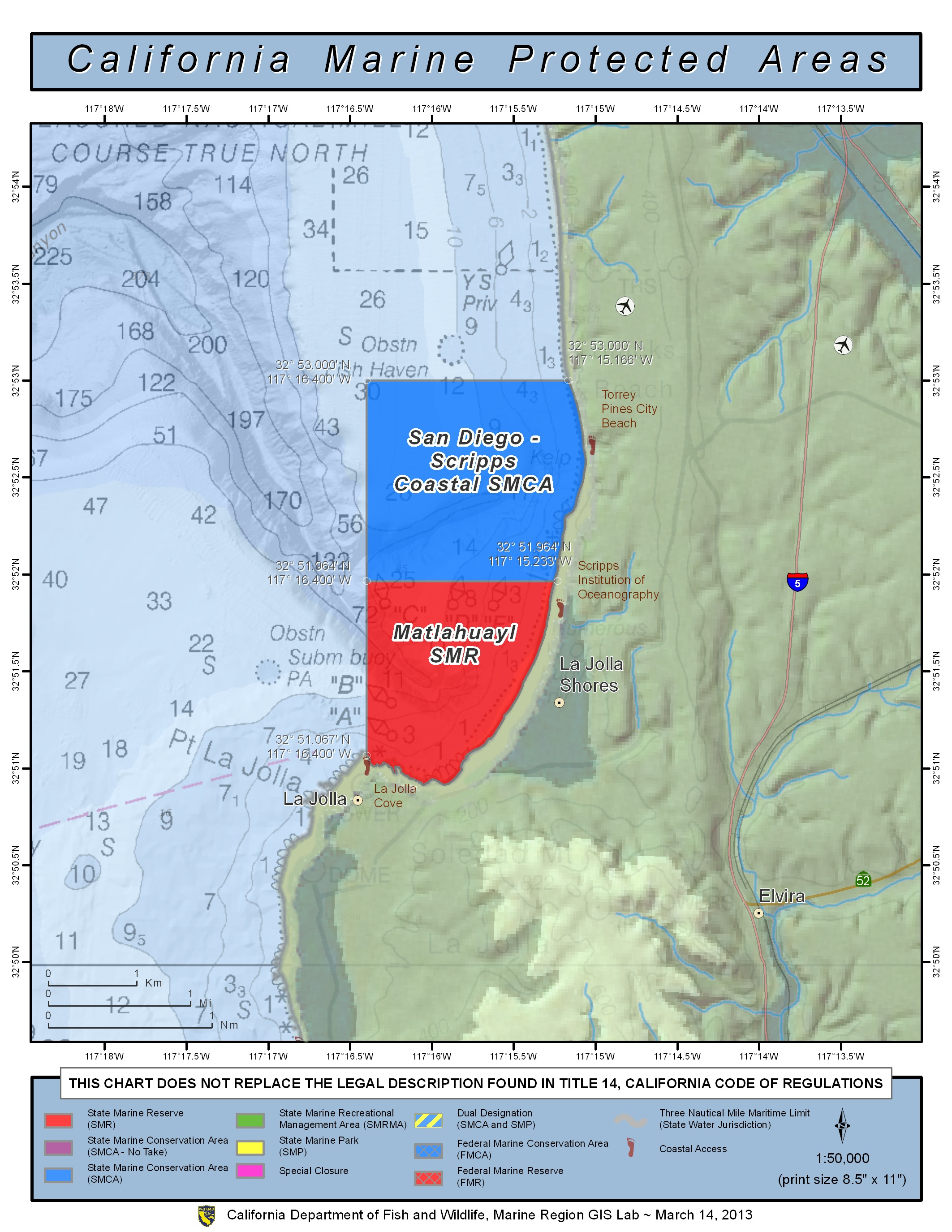 Filehandler Map With Zone Southern California Surf Map - Klipy - California Marine Protected Areas Map