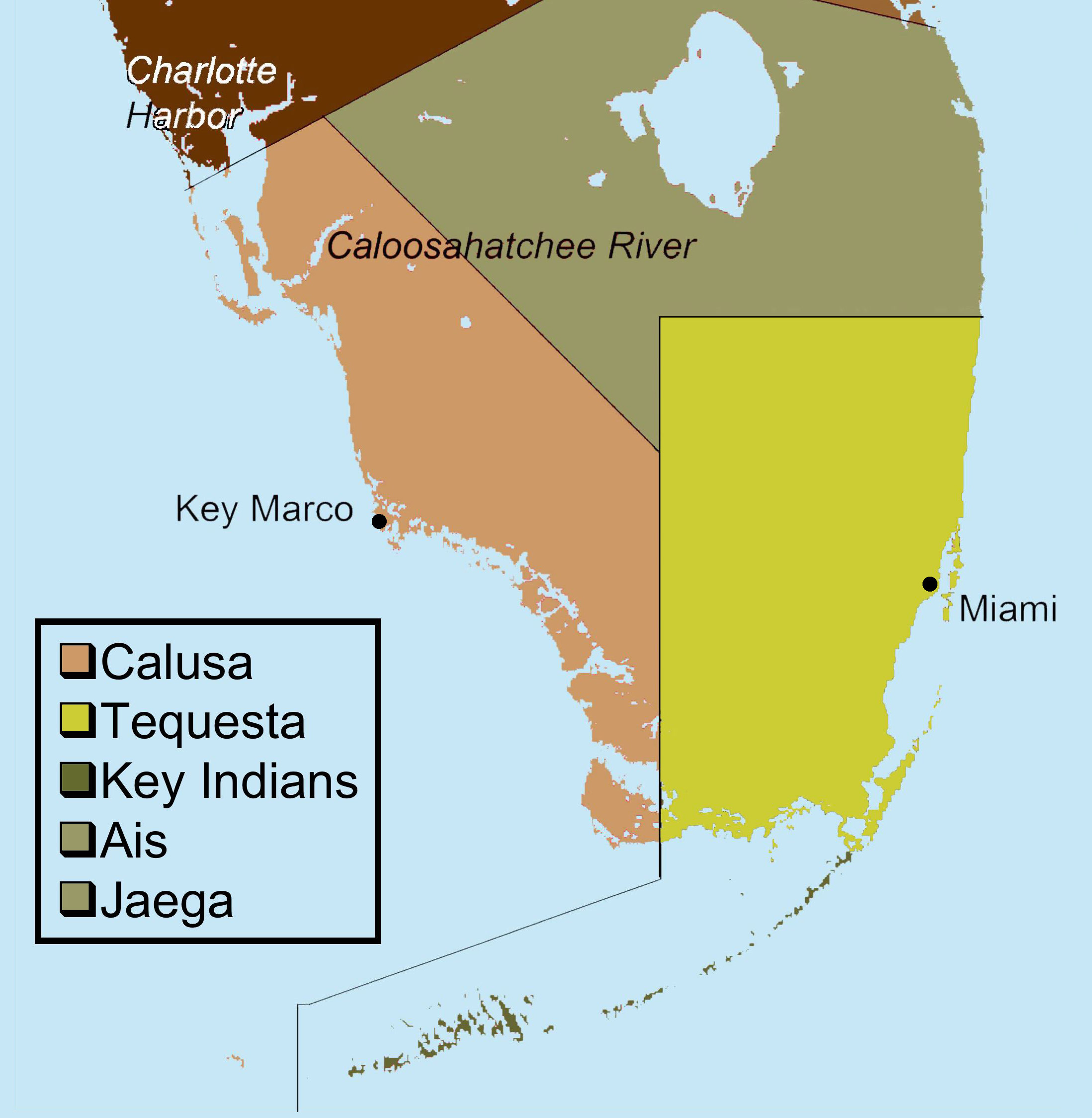 File:indigenous People Of Everglades Map - Wikimedia Commons - Native American Tribes In Florida Map