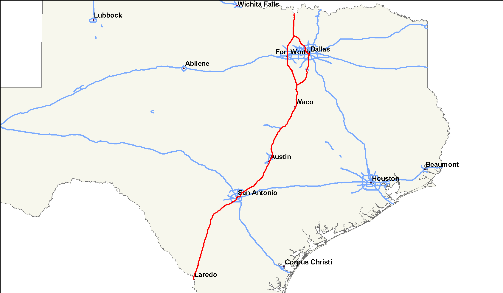 File:interstate 35 Map (Texas) - Wikimedia Commons - Texas Interstate Map