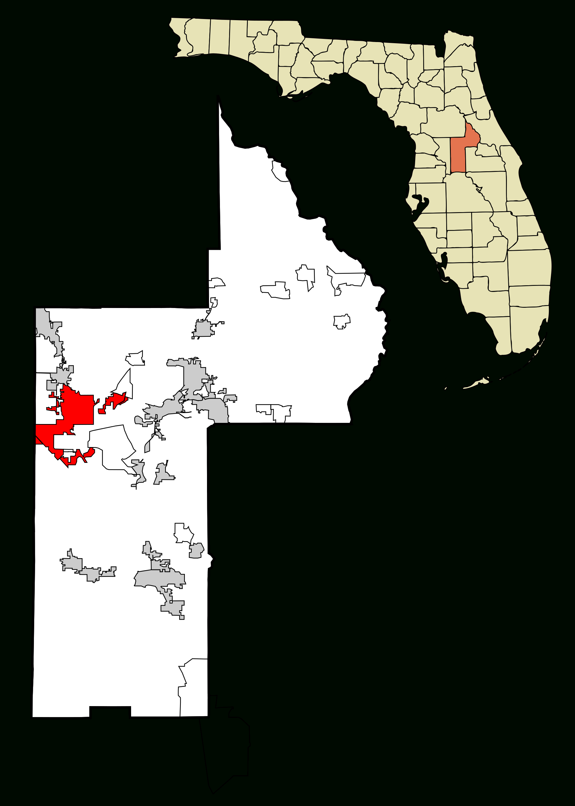 File:lake County Florida Incorporated And Unincorporated Areas - Leesburg Florida Map