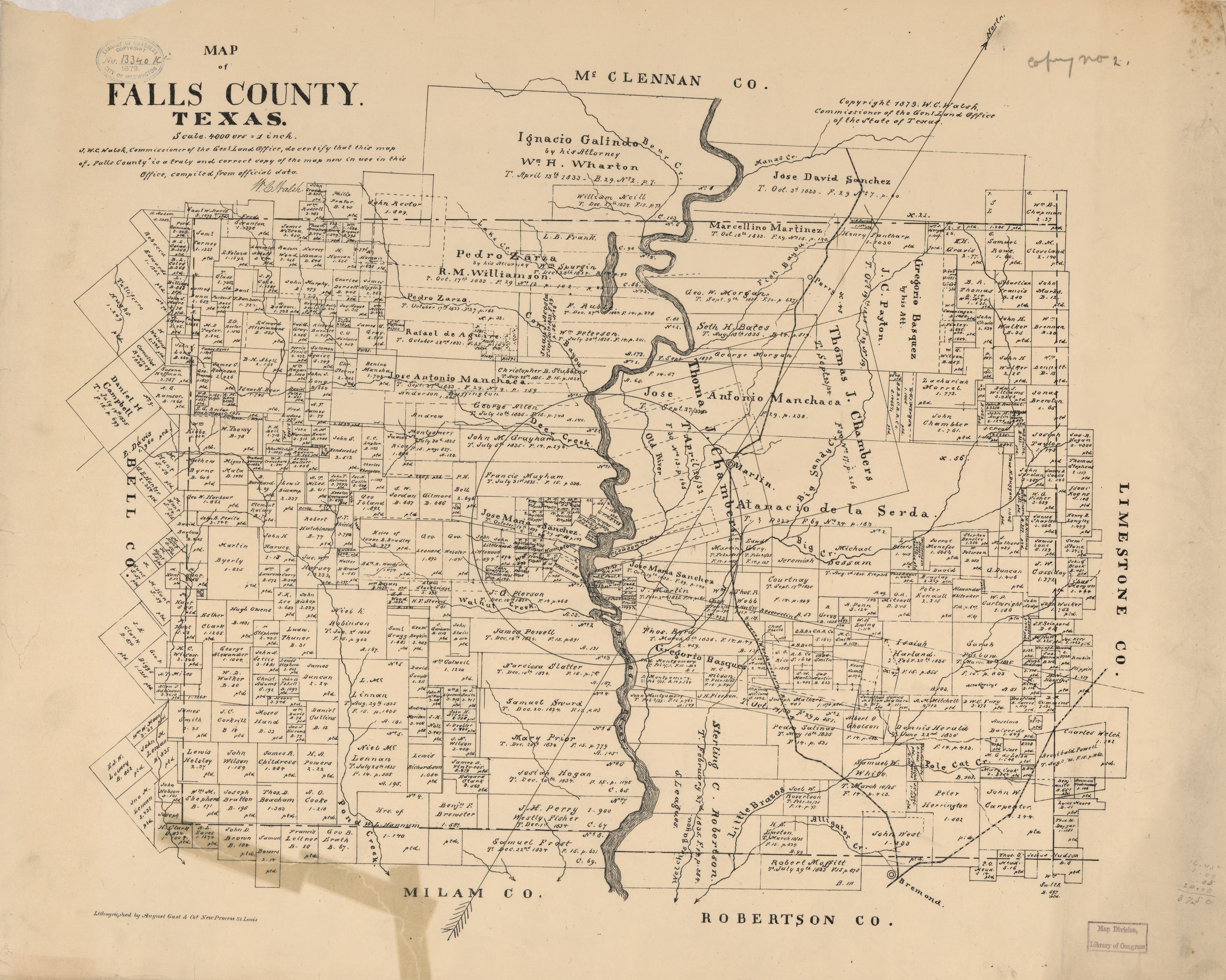 File:map Of Falls County, Texas. Loc 2012591101 - Wikimedia Commons - Falls County Texas Map