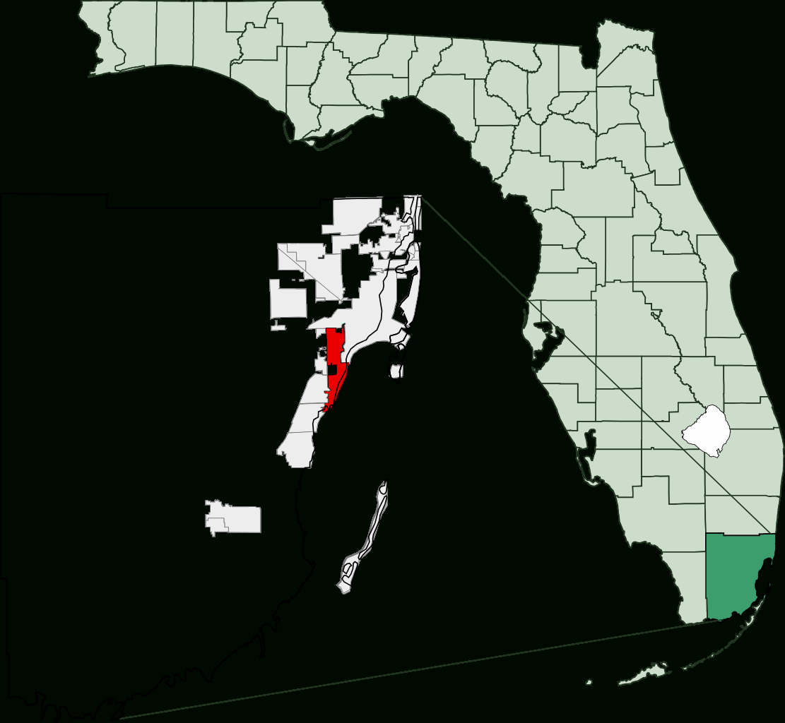 File:map Of Florida Highlighting Coral Gables.svg - Wikimedia Commons - Coral Gables Florida Map