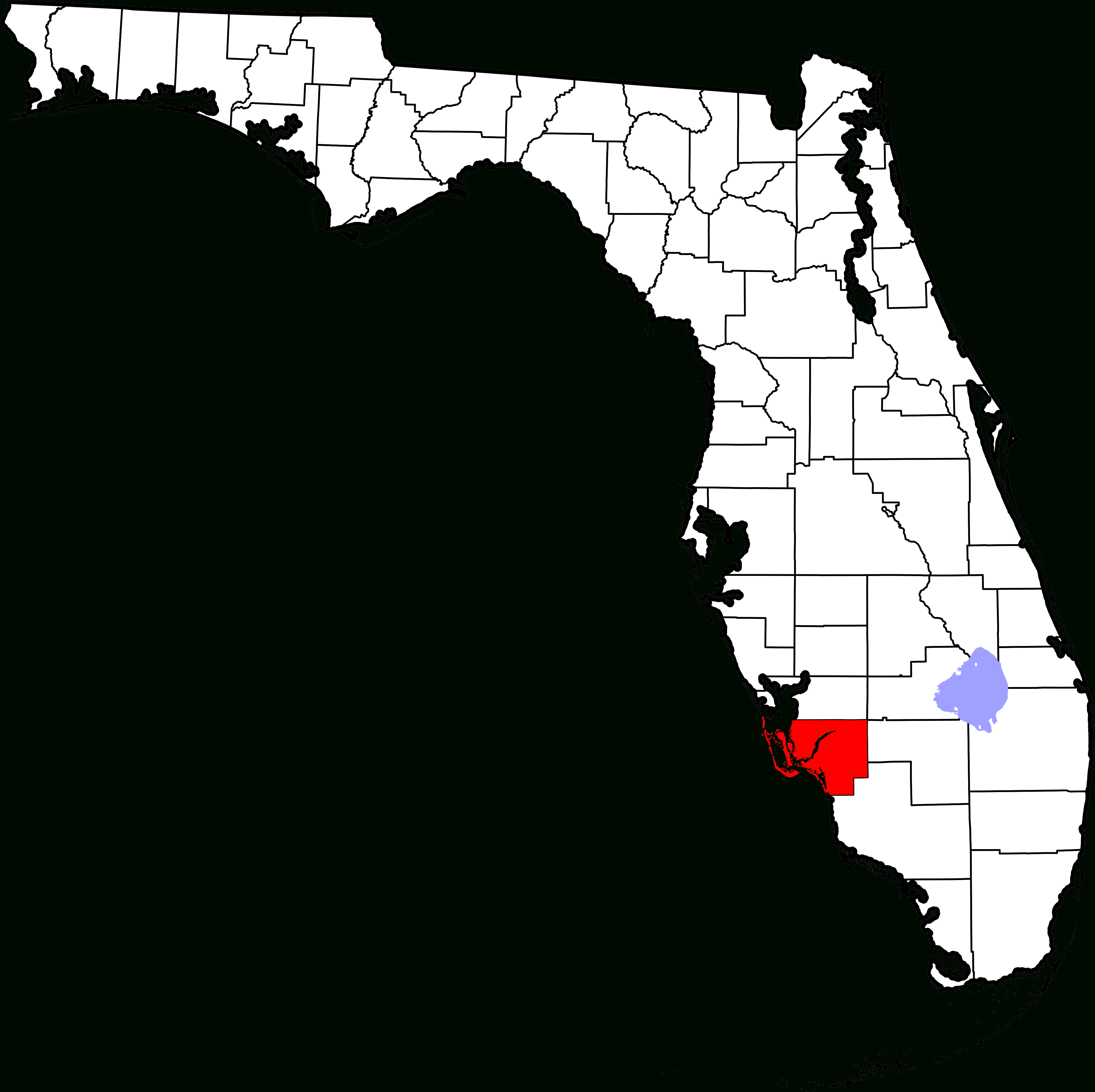 File:map Of Florida Highlighting Lee County.svg - Wikipedia - Map Of Lee County Florida