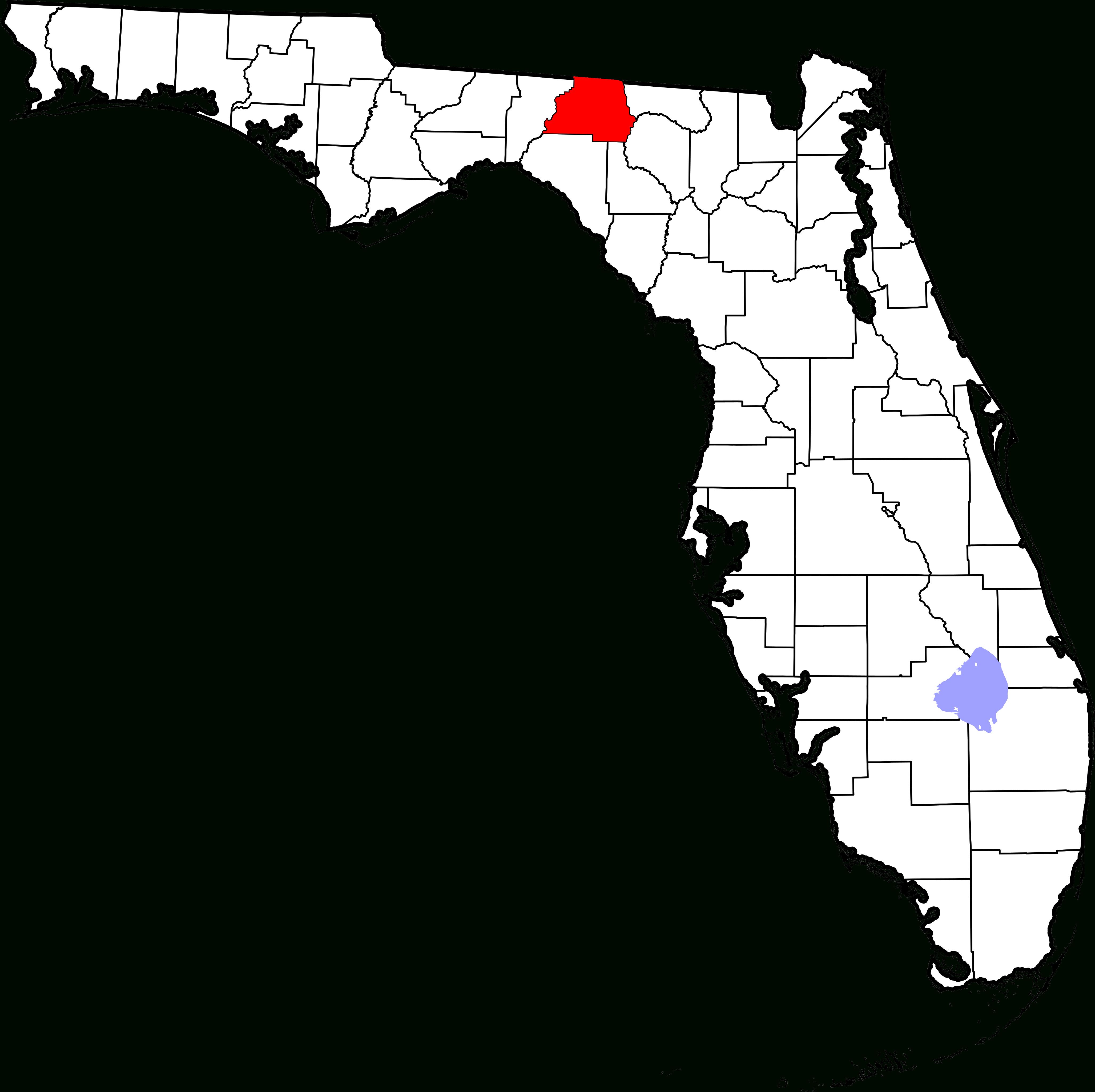 File:map Of Florida Highlighting Madison County.svg - Wikimedia Commons - Madison Florida Map