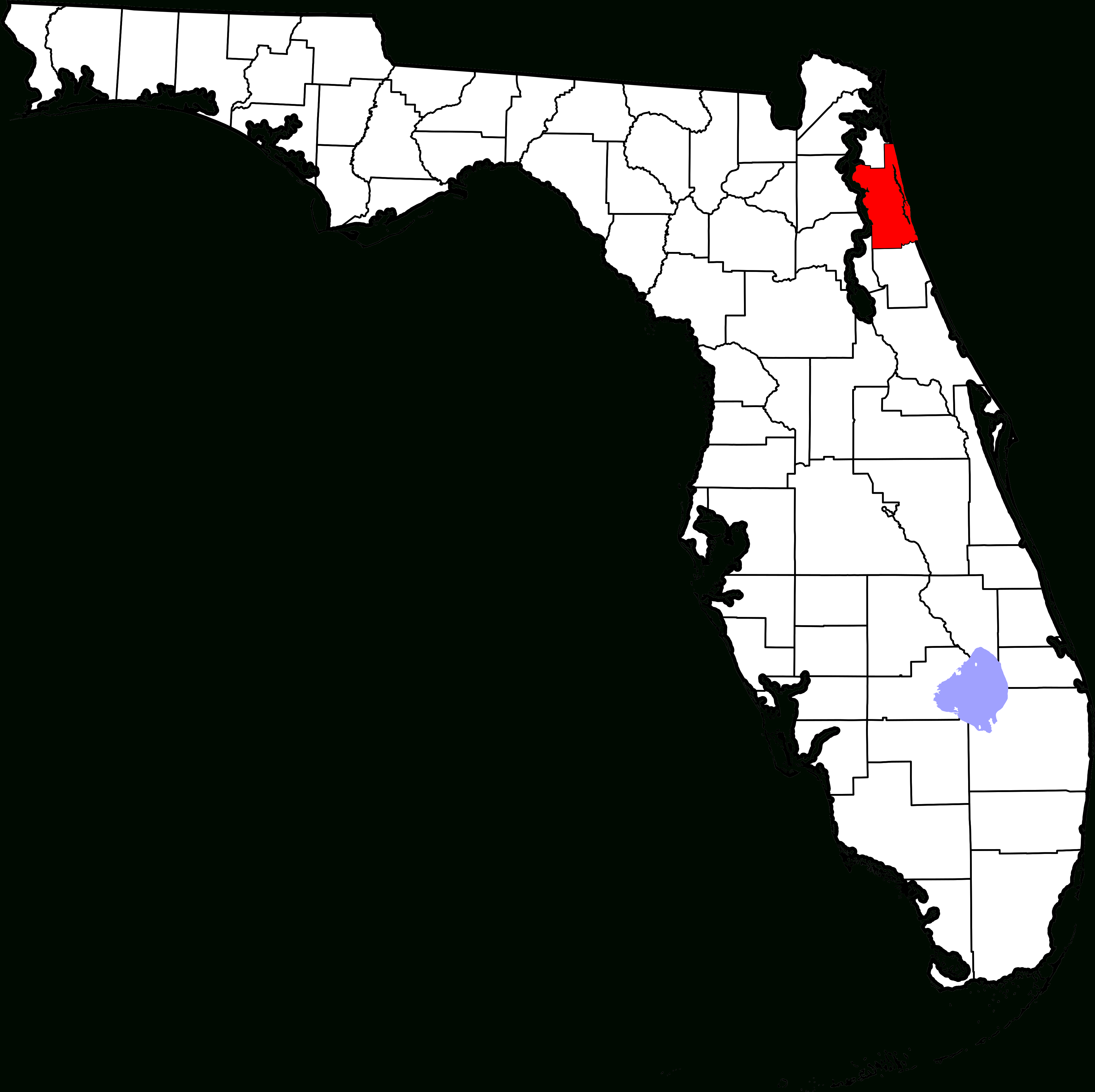 File:map Of Florida Highlighting St. Johns County.svg - Wikimedia - St Johns Florida Map