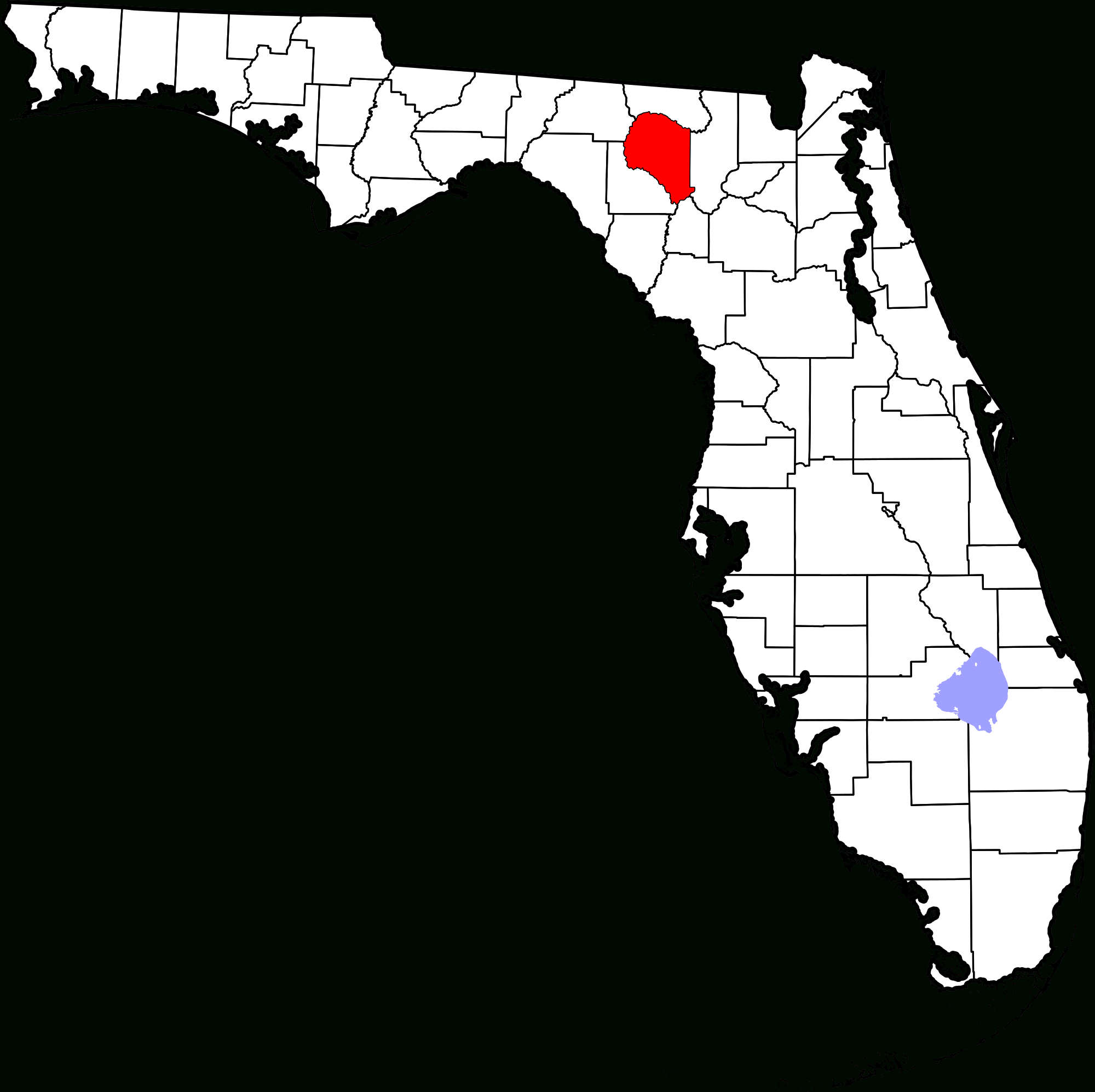 File:map Of Florida Highlighting Suwannee County.svg - Wikimedia Commons - Mcalpin Florida Map