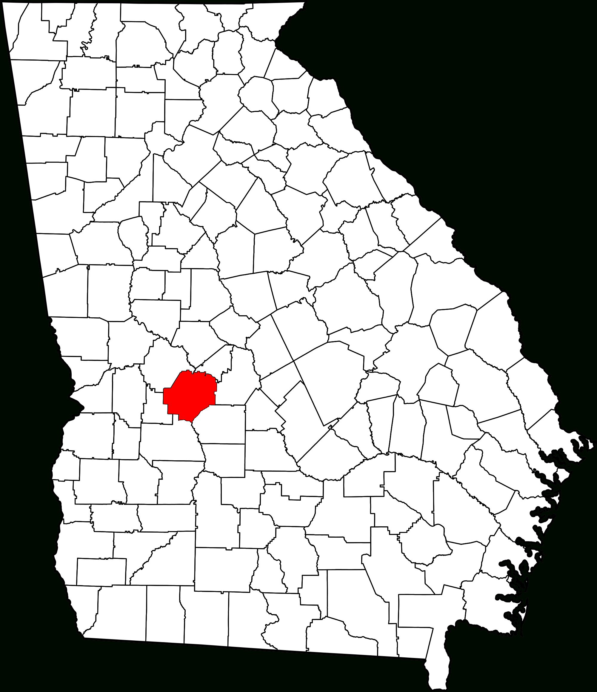 File:map Of Georgia Highlighting Macon County.svg - Wikimedia Commons - Printable Map Of Macon Ga