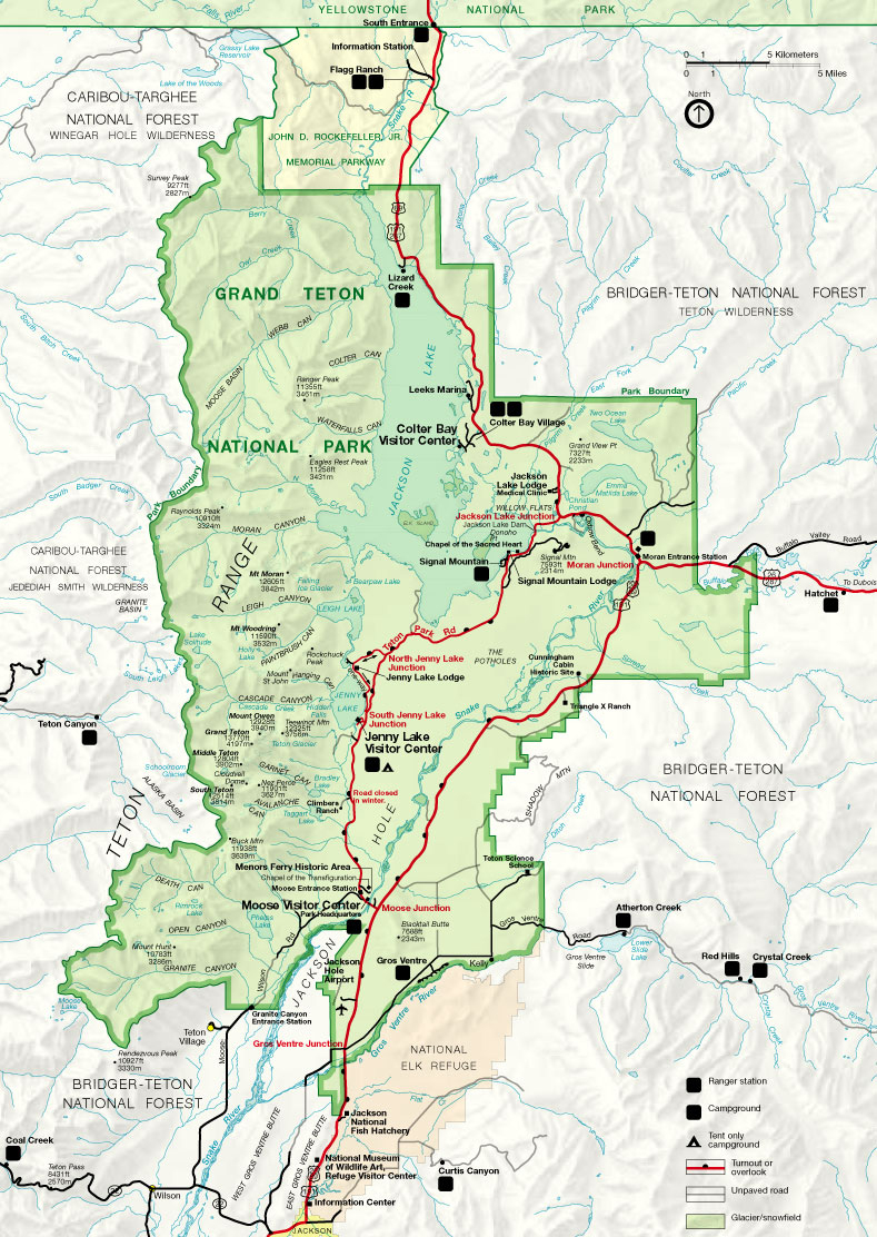 File:map Of Grand Teton National Park - Wikimedia Commons - Printable Map Of Grand Teton National Park