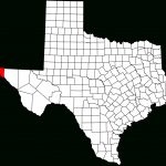 File:map Of Texas Highlighting El Paso County.svg   Wikipedia   Where Is El Paso Texas On The Map