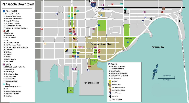 File:map-Usa-Pensacola-Downtown - Wikimedia Commons - Printable Map Of Pensacola Florida
