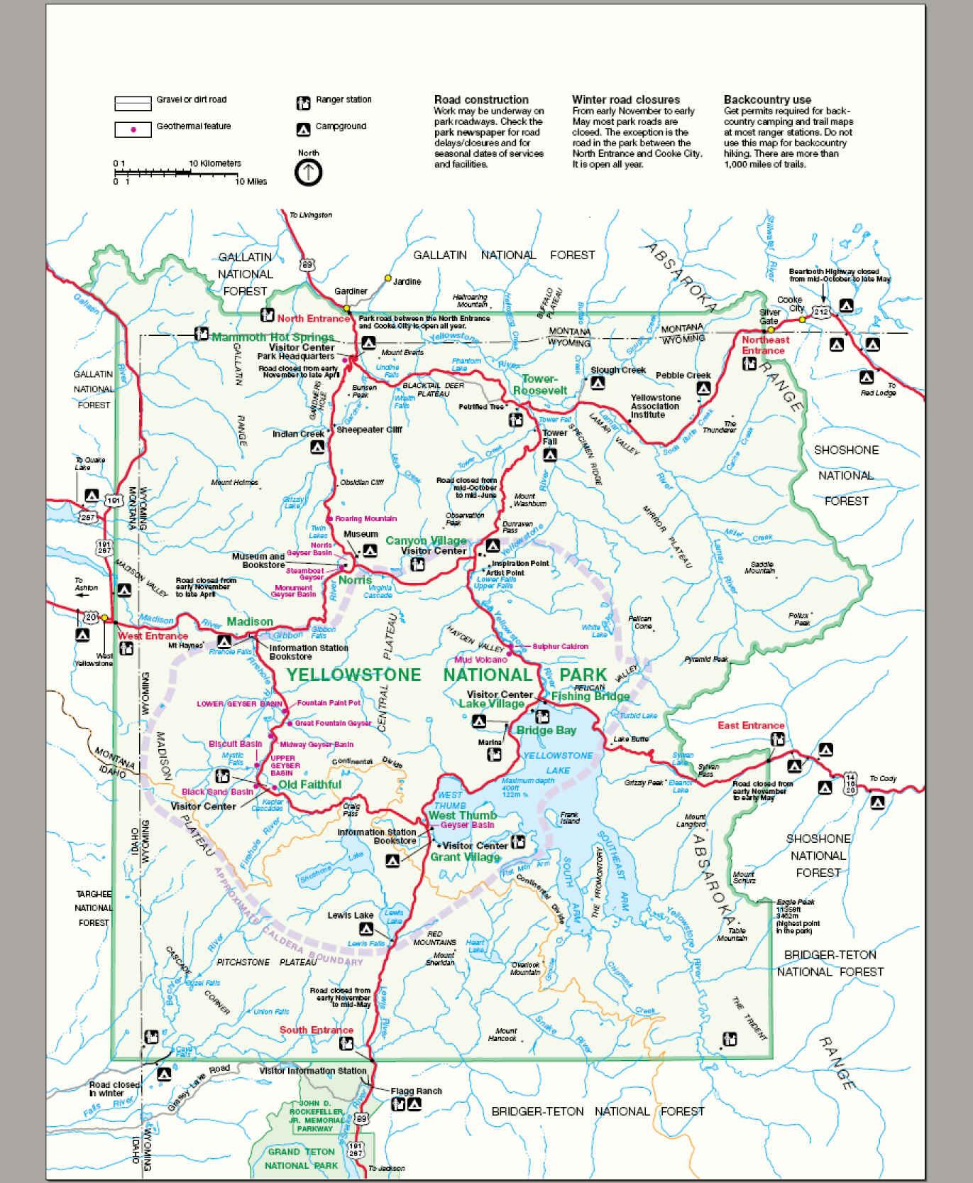 File:map Yellowstone National Park - Wikimedia Commons - Printable Map Of Yellowstone National Park
