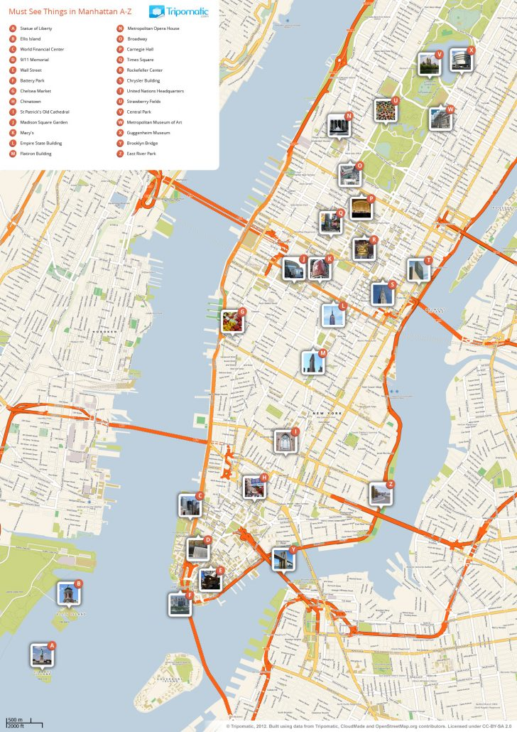 Printable New York Street Map