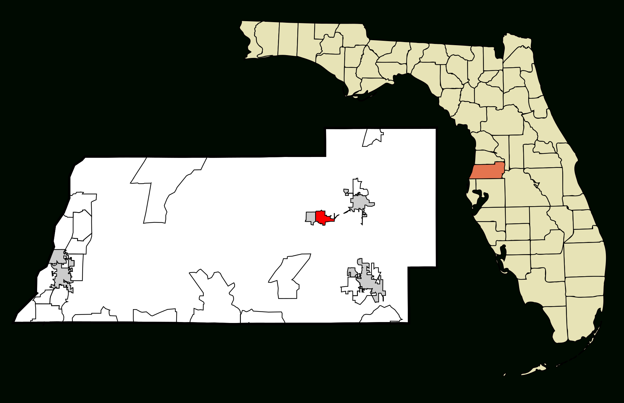 File:pasco County Florida Incorporated And Unincorporated Areas St - St Leo Florida Map