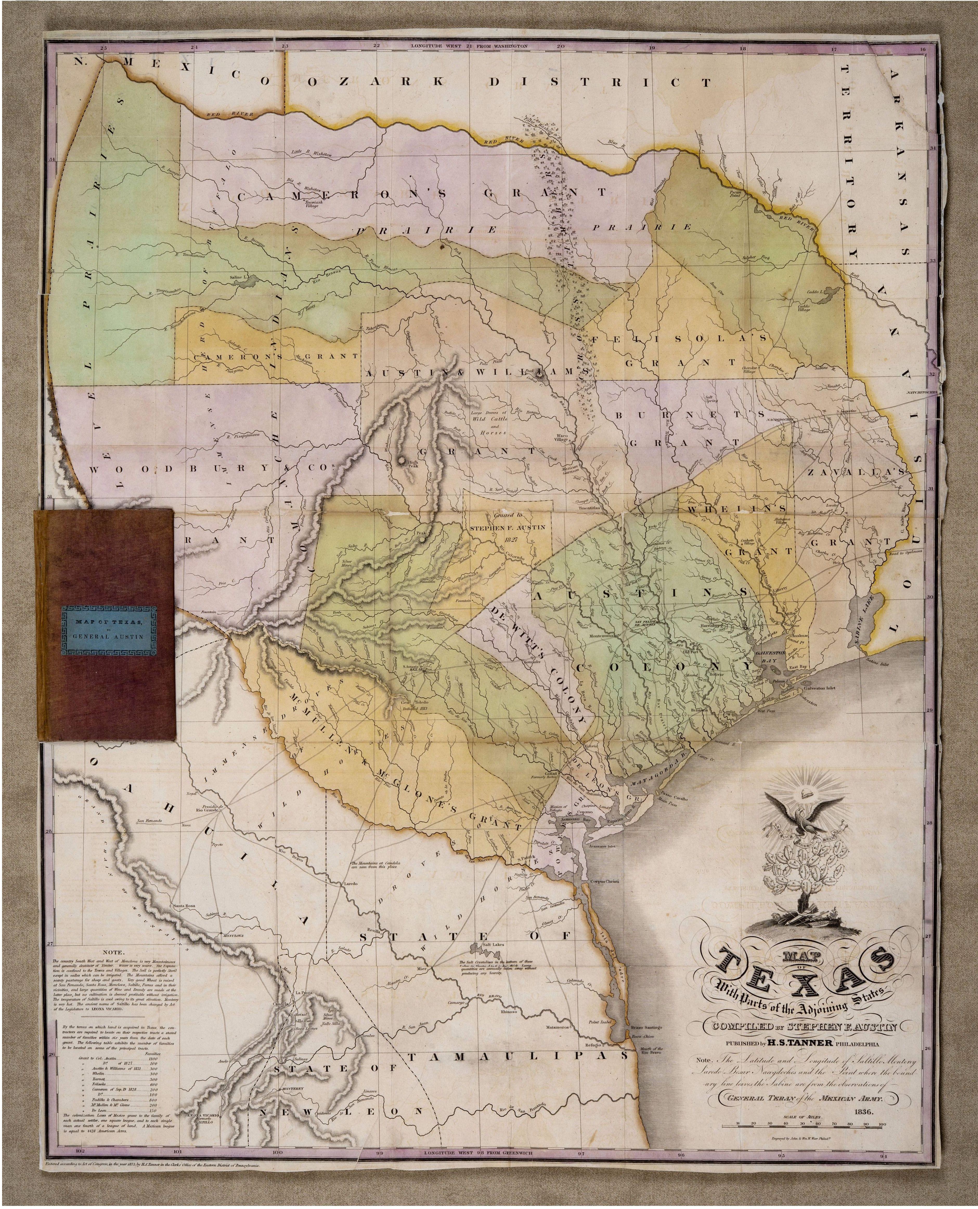 File:stephen F. Austin's Cornerstone Map Of Texas, 1836 - Stephen F Austin Map Of Texas