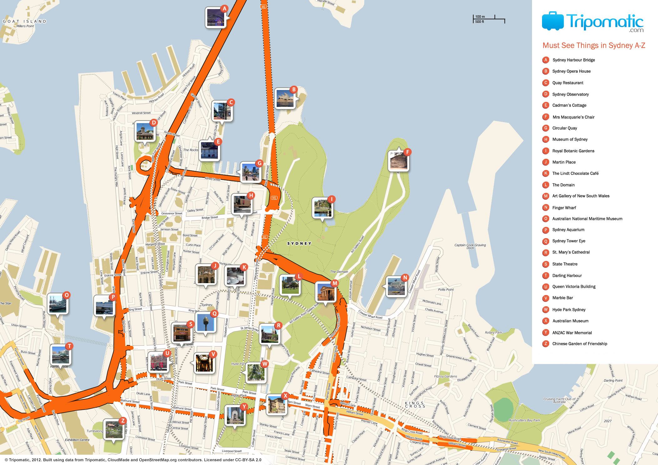 File:sydney Printable Tourist Attractions Map - Wikimedia Commons - Sydney Tourist Map Printable