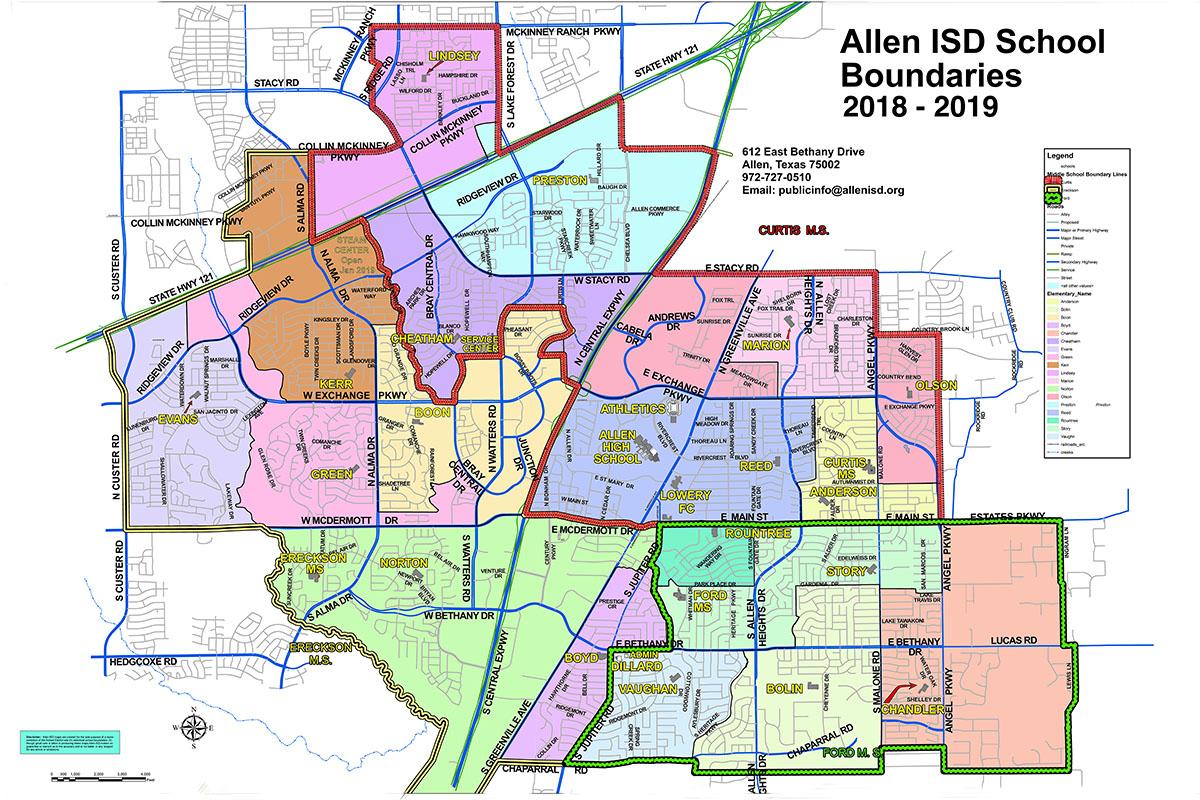 Find A School / Boundary Map - Texas School District Map By Region