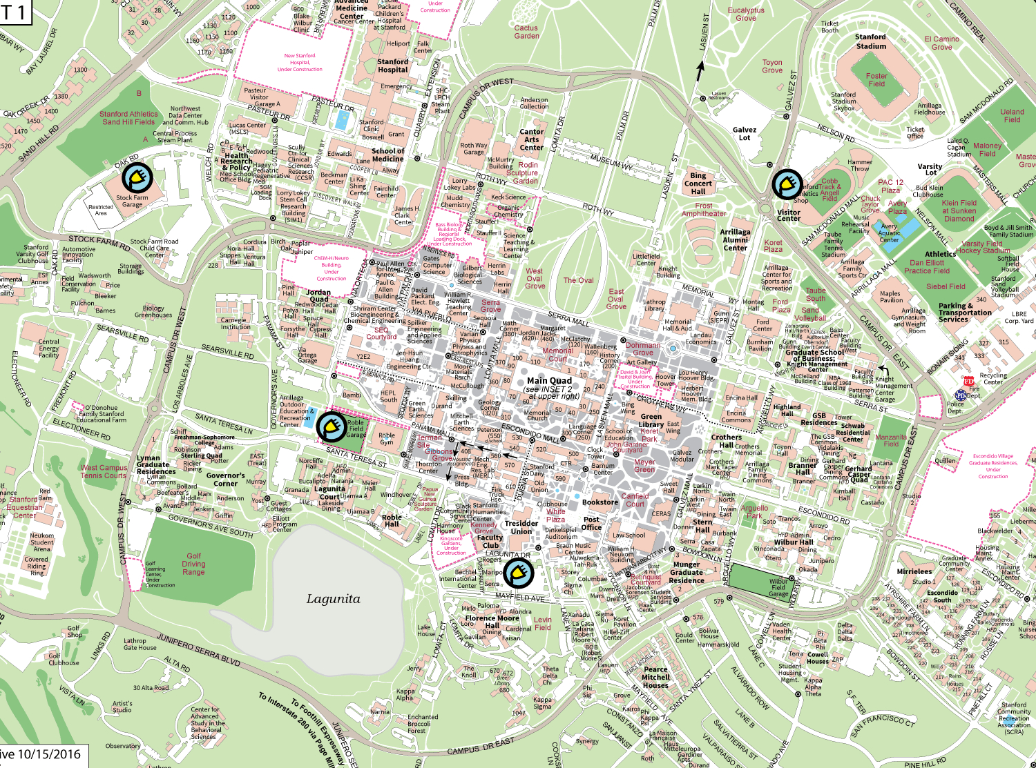 Find An Electric Vehicle Charging Station | Stanford Parking - California Electric Car Charging Stations Map