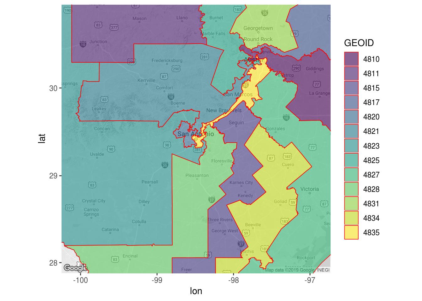 Find Salamander -- Congressional District Gerrymandering - Texas Congressional District Map