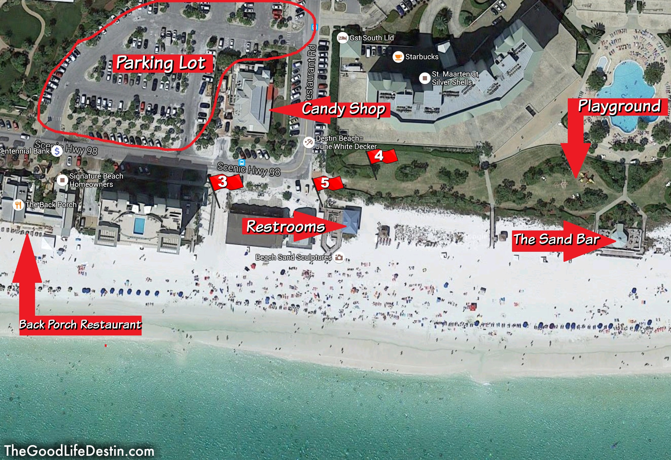 Find Your Perfect Beach In Destin Florida - The Good Life Destin - Map Of Destin Florida And Surrounding Cities