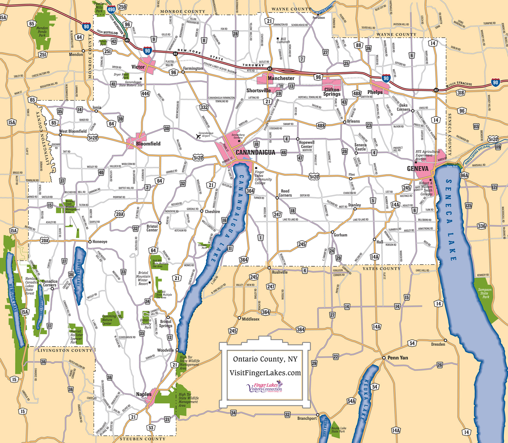 Finger Lakes Maps | Trip Planning | Visit Finger Lakes - Road Map Of New York State Printable