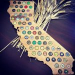 Finished California Beer Cap Map   Swiftmaps   California Beer Cap Map