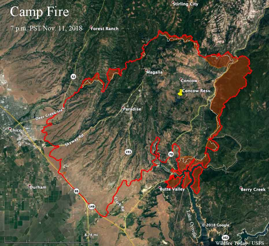 Fire Officials Release List Of Structures Burned In Camp Fire - Paradise California Map