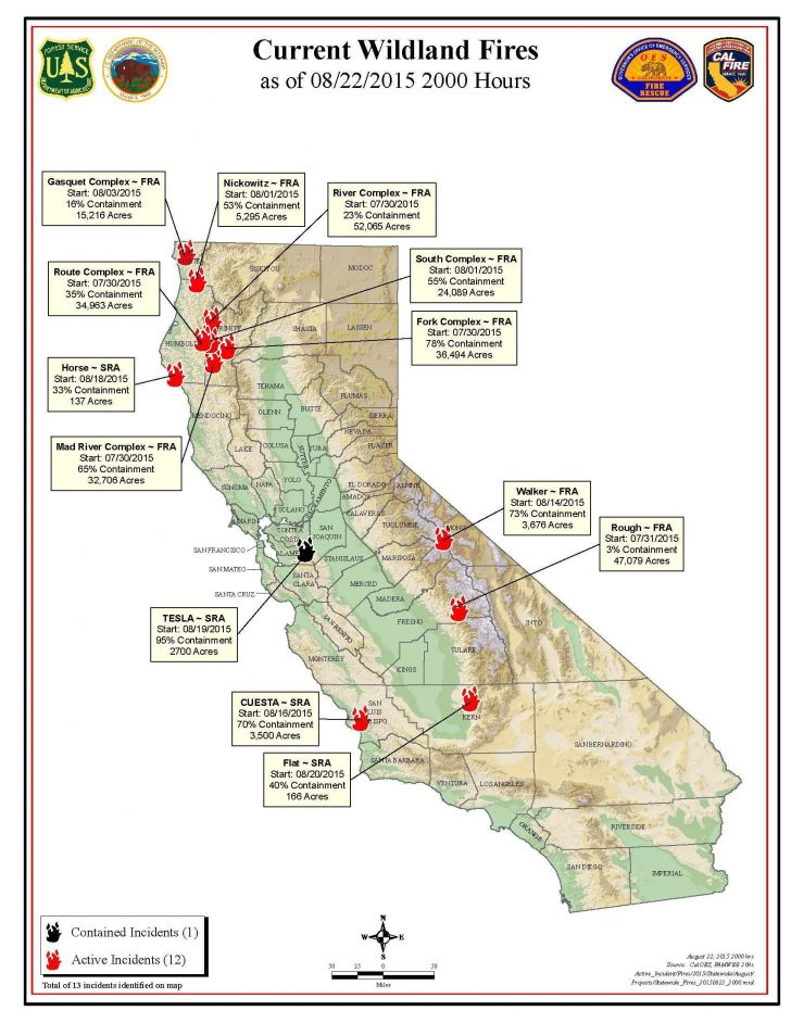 Fires In California Right Now Map