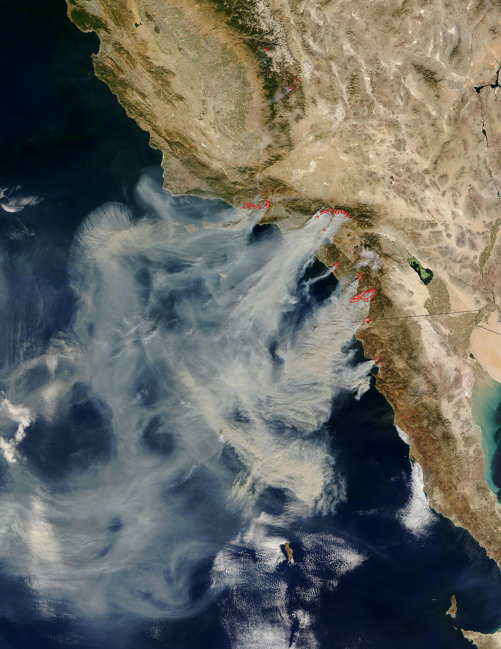 Fires In Southern California - California Wildfire Satellite Map