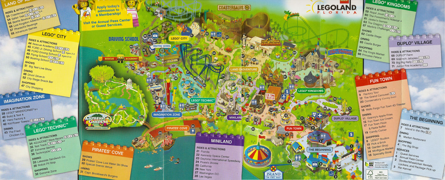 First Look At Legoland Florida's Park Map And Logo Merchandise - Legoland Map Florida