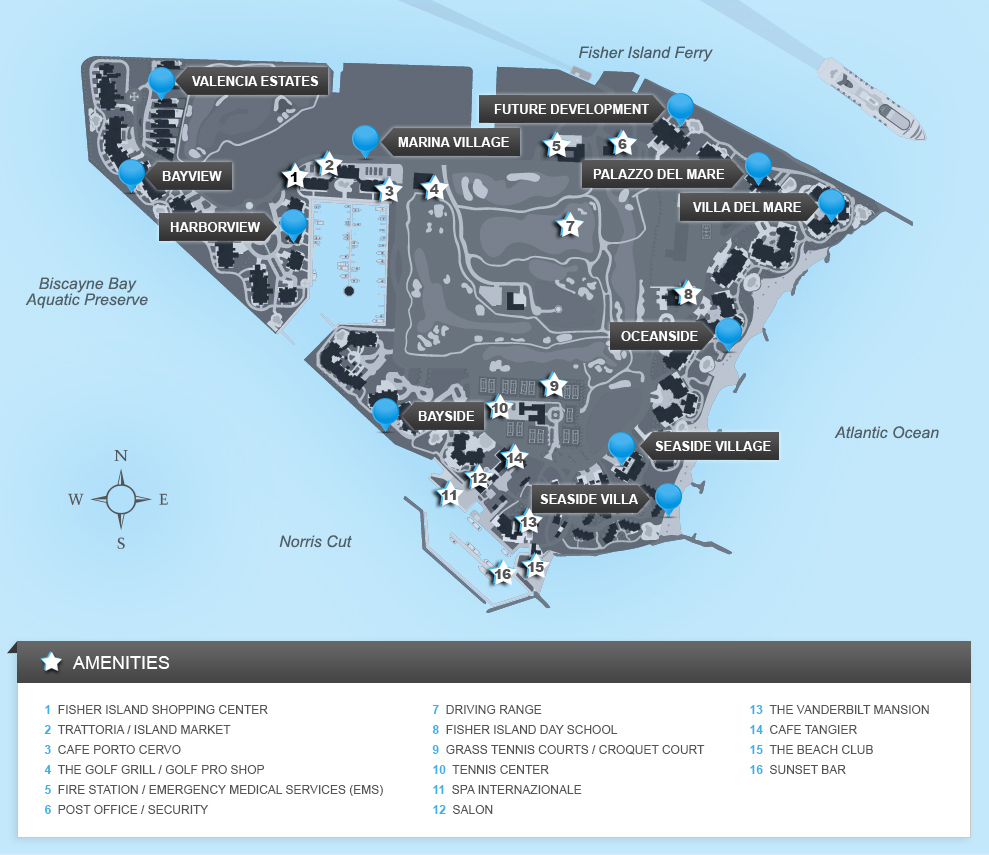 Fisher Island Florida Map Map Of Fisher Island - Emerald Island Florida Map