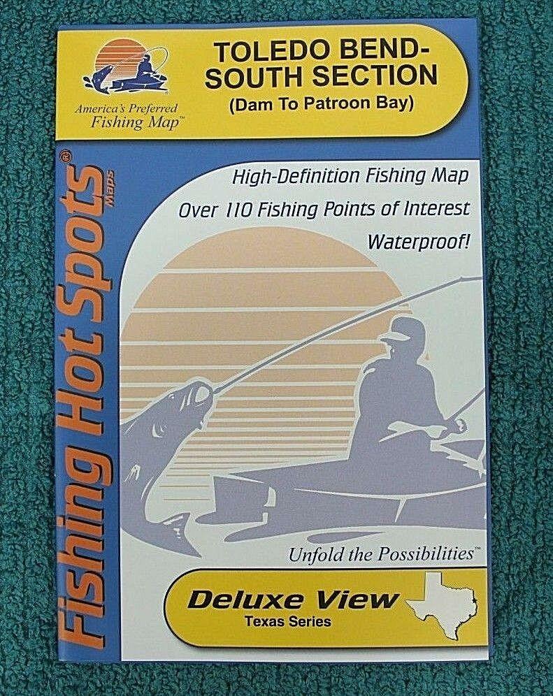 Fishing Hot Spots Toledo Bend (South) Map A 438 | Ebay - Texas Fishing Hot Spots Maps