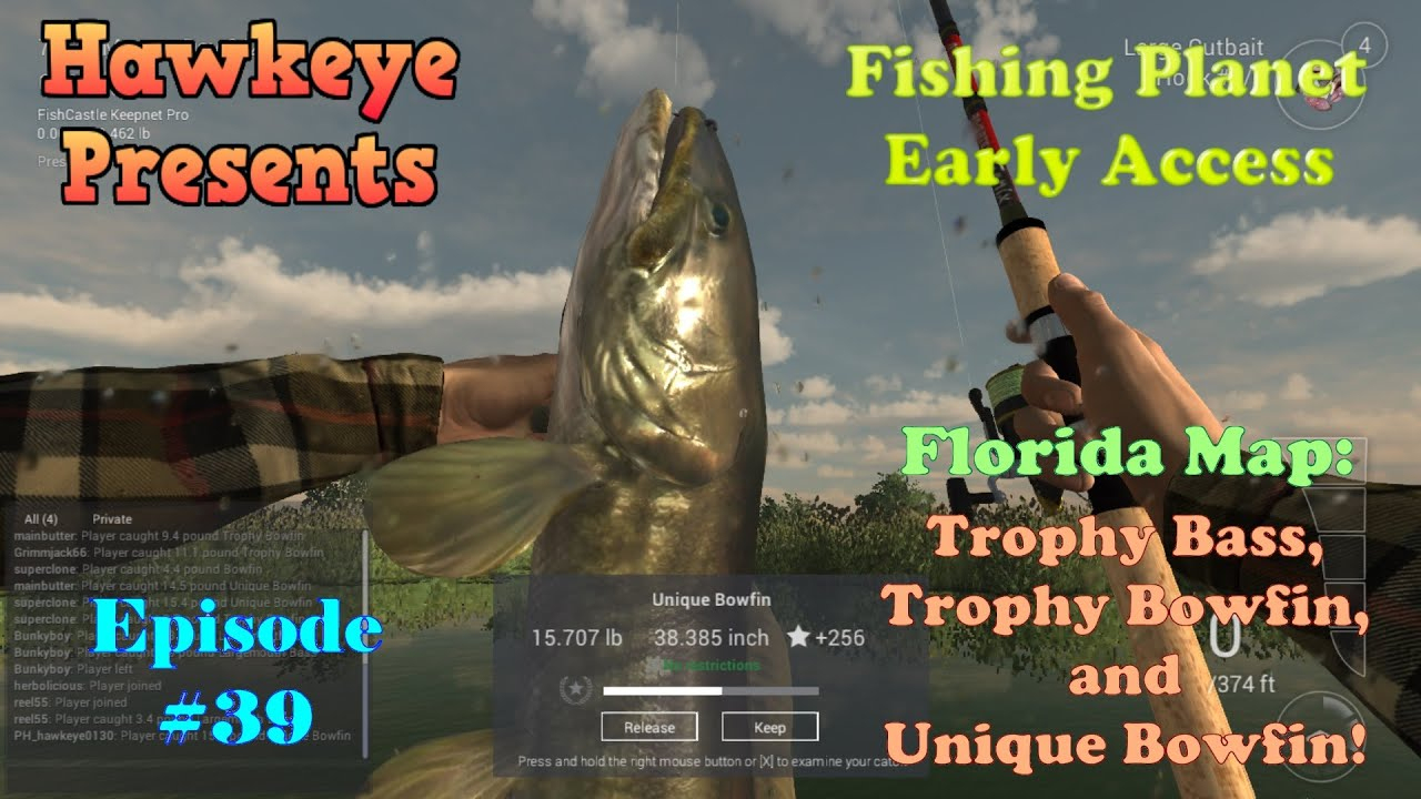 Fishing Planet - Ep. #39: Florida Map: Trophy Bass, Trophy Bowfin - Peacock Bass Florida Map