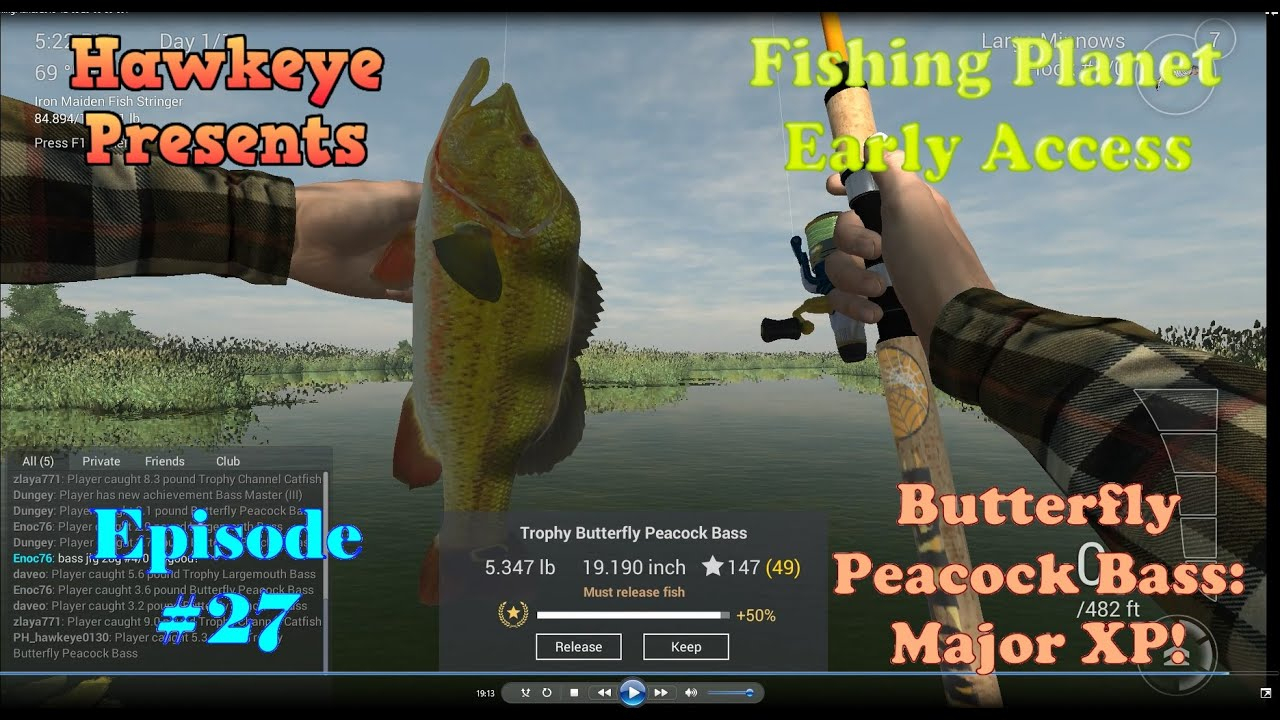 Fishing Planet - Episode #27: Butterfly Peacock Bass - Major Xp - Peacock Bass Florida Map