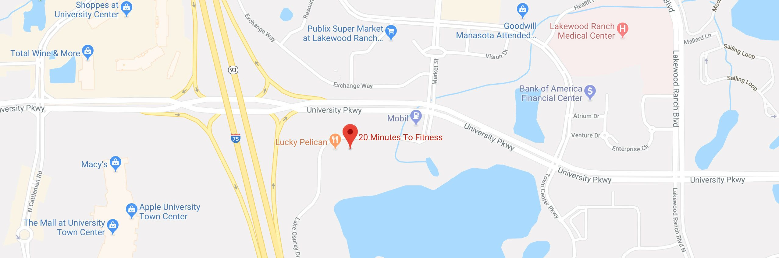 Fitness Center In Lakewood Ranch, Fl | No-Contract Gym | 20 Minutes - Lakewood Ranch Map Florida