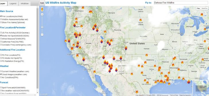 California Active Wildfire Map