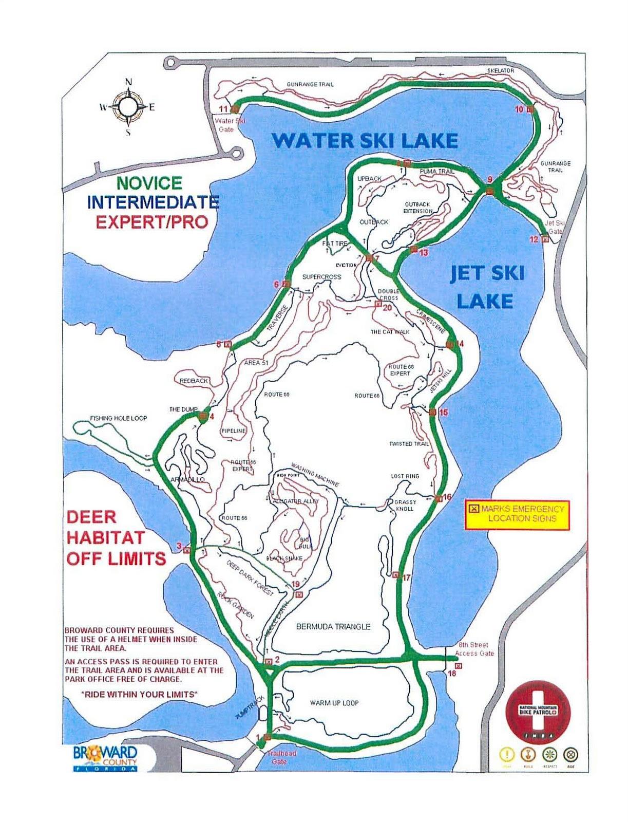 Fl Trails   Florida Mountain Bike Trails: Markham Park - Florida Mountain Bike Trails Map