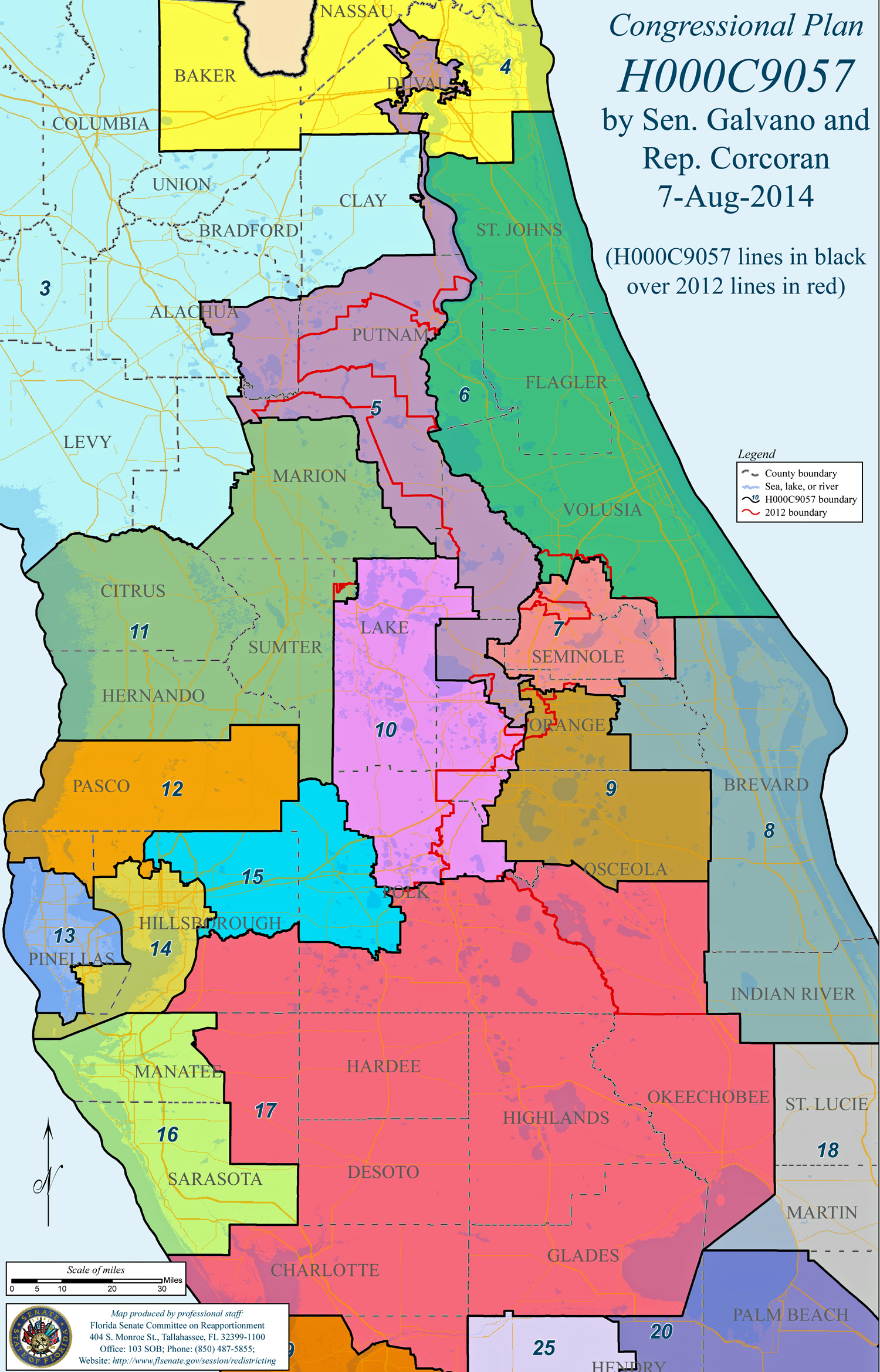 Flagler And St. Johns Untouched But Congressional District 6 Loses - Florida District 6 Map