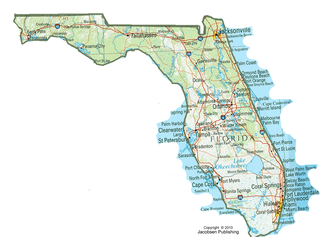 Flfull Map With Zone Geography Map Of Florida New Of Maps Printable - Coral Beach Florida Map