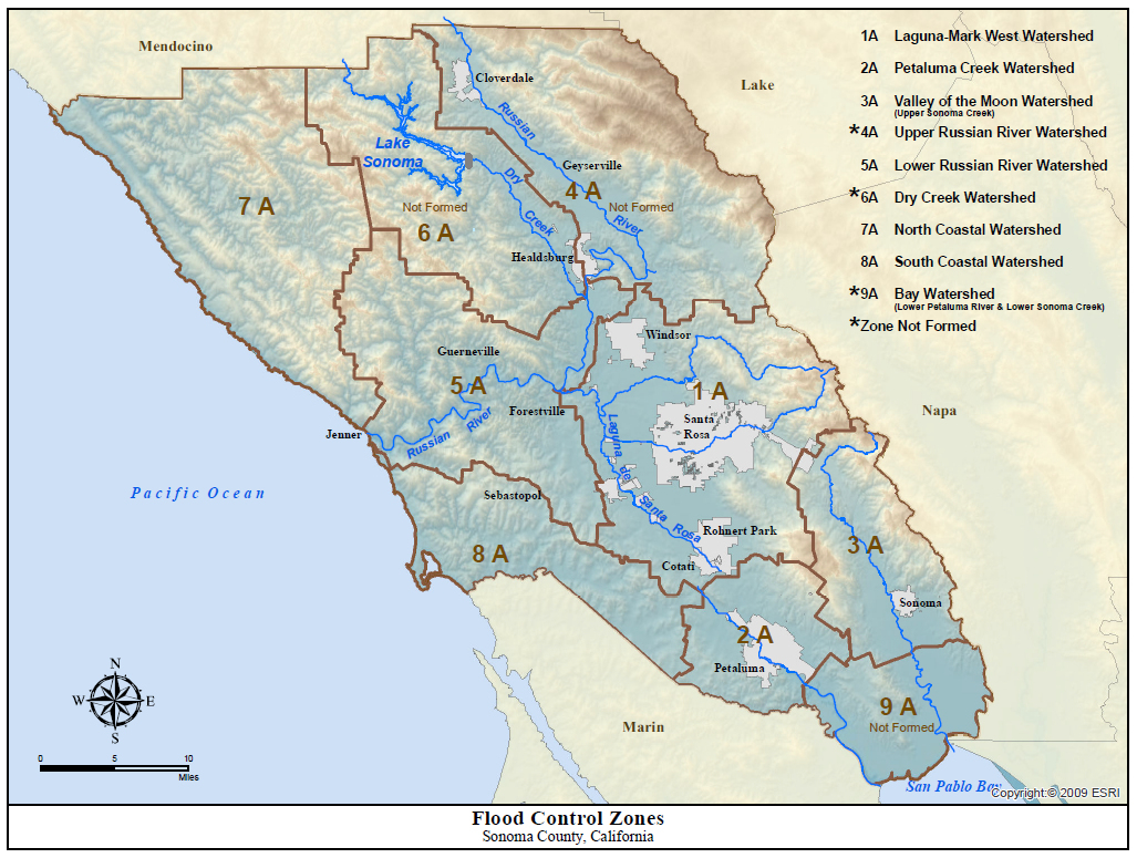 Flood Protection Zones Map California Map With Cities Russian River - Russian River California Map
