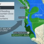 Flooding Mudslides To Threaten Map California Northern California   California Coast Weather Map