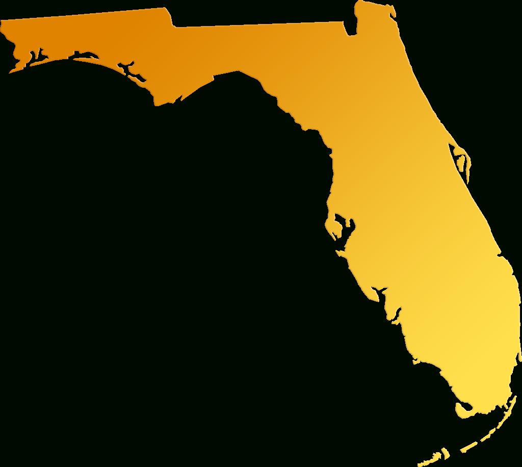 "Florida ""abstract"" Style Maps: #30 Yellow-Orange Gradient - Orange Florida Map"