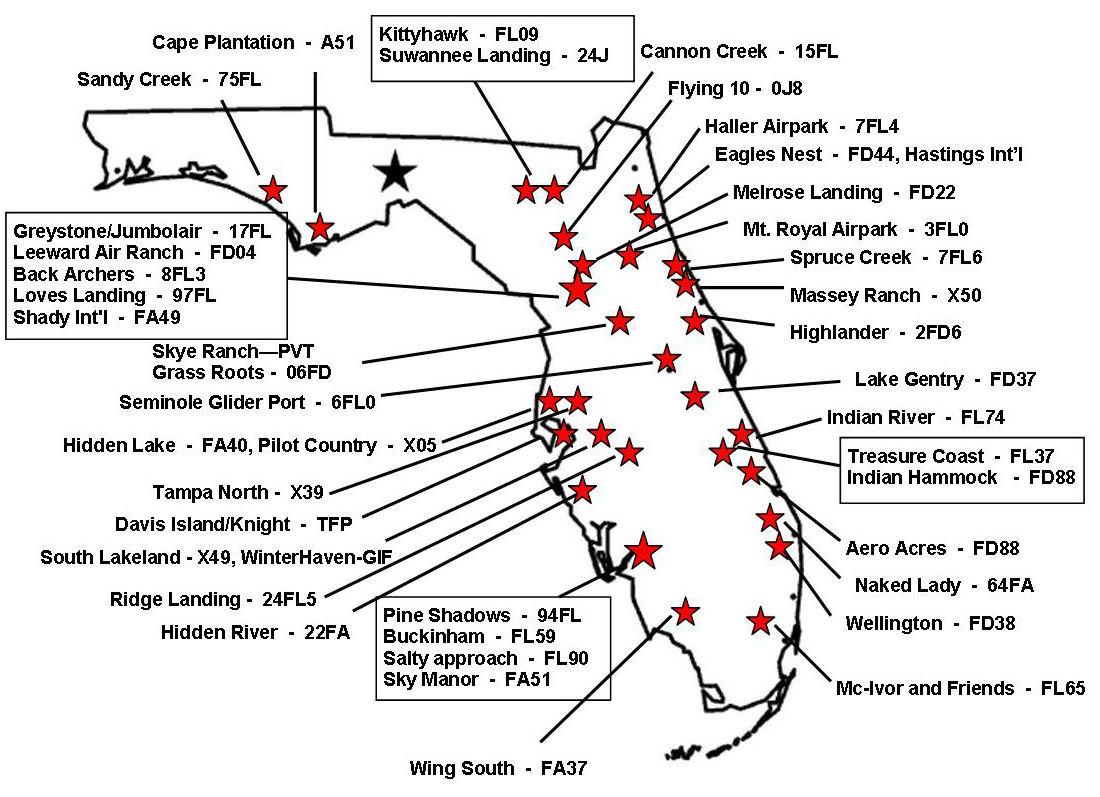 Florida Airpark Homes Airport Hangars And Aviation Real - Florida Airparks Map