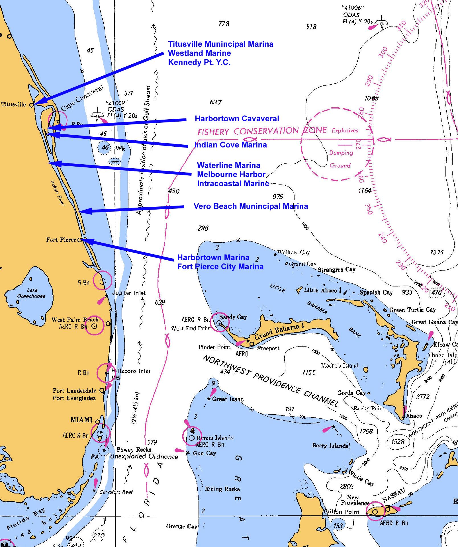Florida Atlantic Depth Chart | Elaterium - Ocean Depth Map Florida