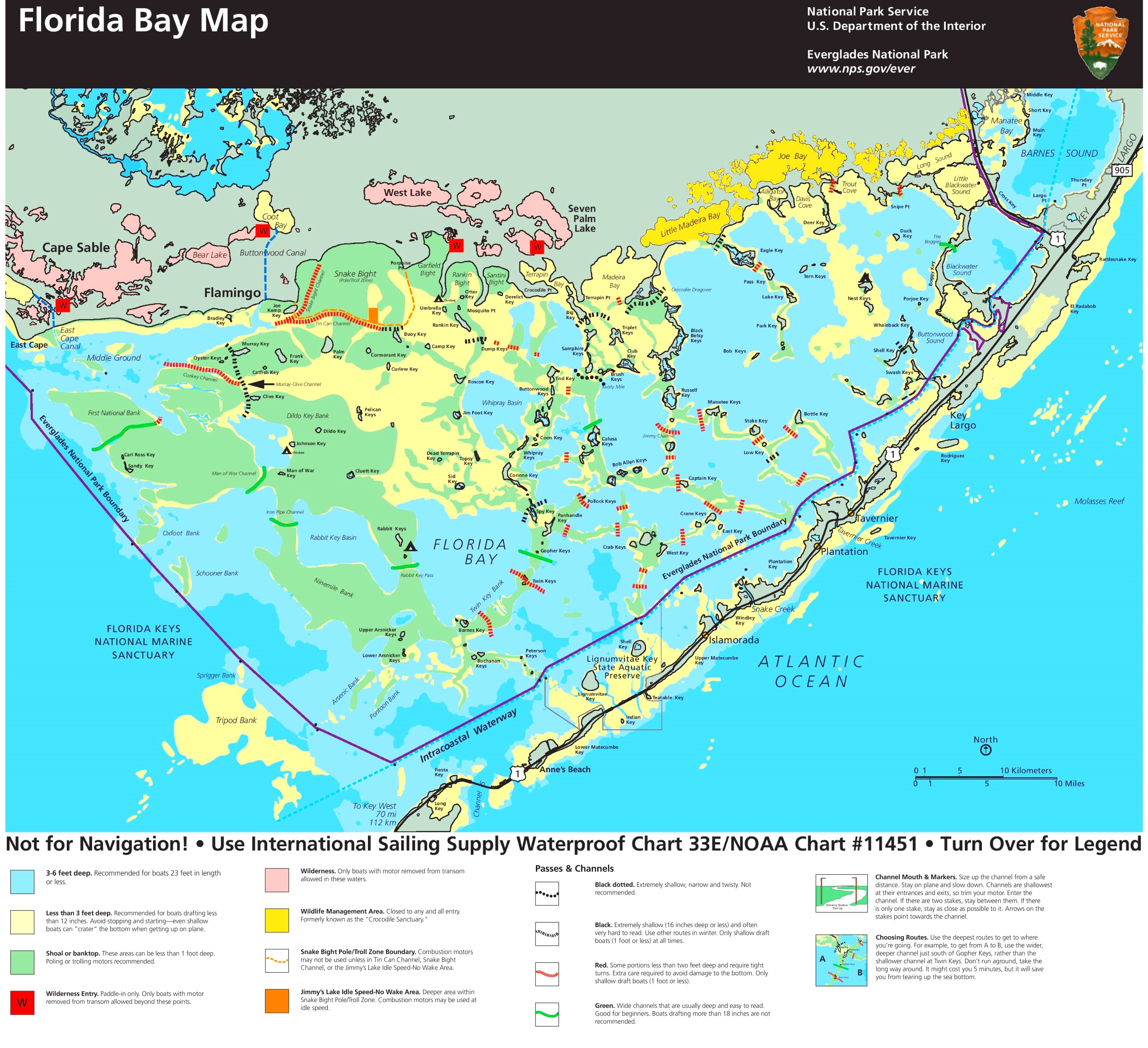 Florida Bay Map - Florida Everglades Map