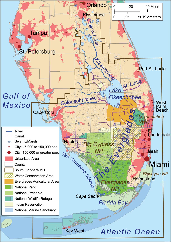 Florida Bay - Wikipedia - Florida Lakes Map