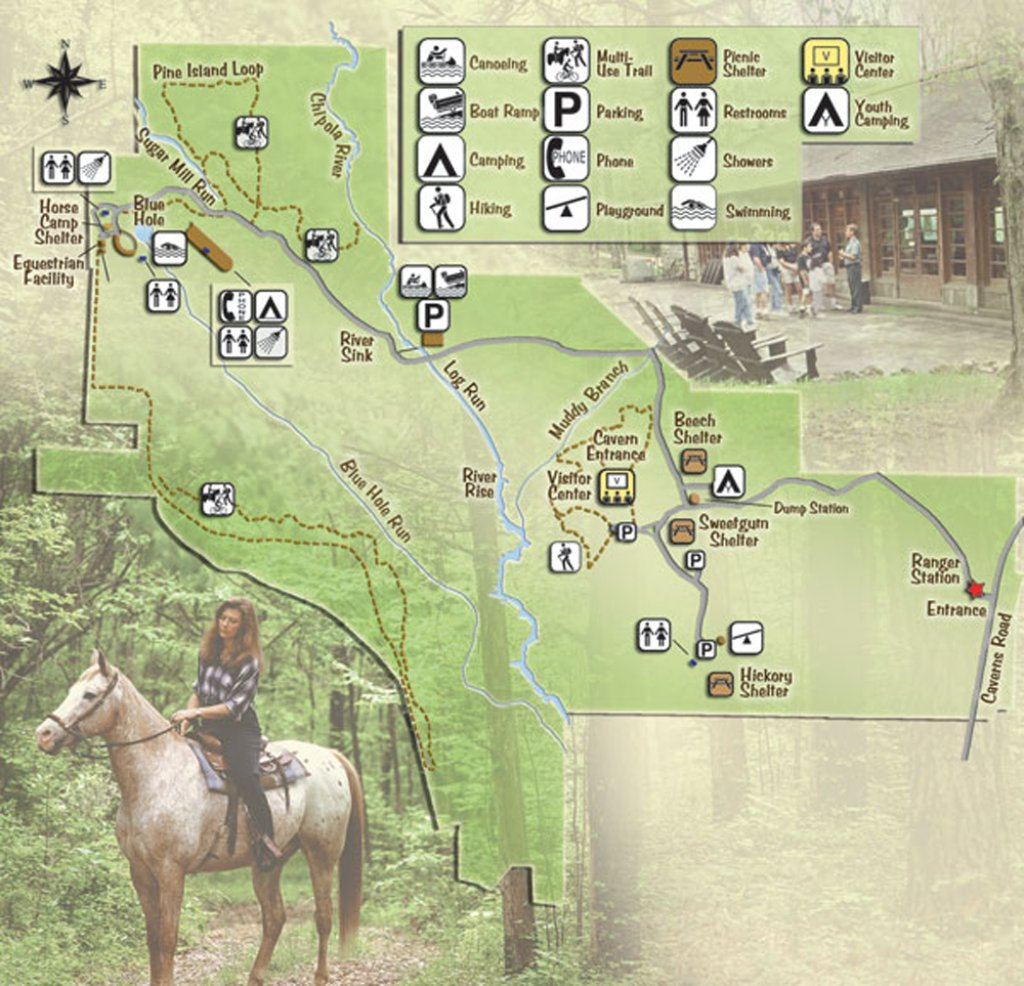 Florida Caverns State Park - Maplets - Florida Caverns State Park Map